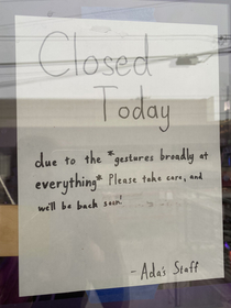 Bookstores Closed Sign in Seattle