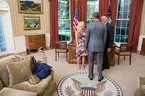 Bored kid faceplants himself in the Oval Office