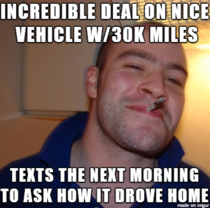 Bought a minivan from this guy yesterday