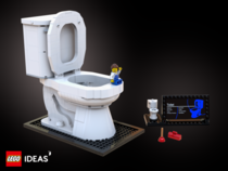 Boys will become men as they learn about the functionality of the mechanisms inside a toilet fixture The LEGO Toilet is a LEGO Ideas project and could become an official LEGO product if it gains K supporters