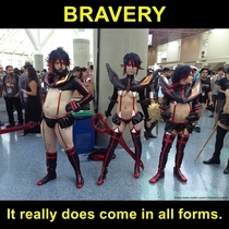 Bravery in cosplay
