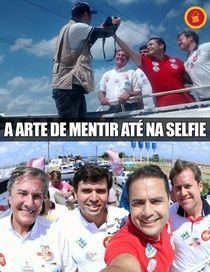Brazilian politicians taking a selfie