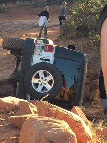 Breaking News Jeep driver mistakes license plate for instruction manual