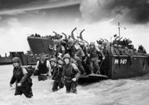 Brian Williams at the D-Day landing