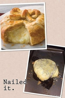 Brie en croute We tried We failed