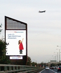 British Airways new interactive billboards promoting safe driving