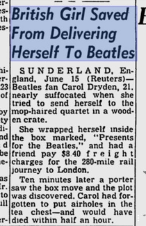 British girl saved from delivering herself to Beatles