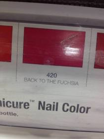 Browsing nail polish color when suddenly