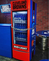 Bud Light Placing Victory Fridges In Cleveland Bars Free Beer For Everyone When Browns Win First Game Since
