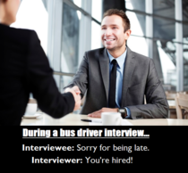 Bus driver interview