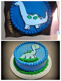 Cake I wanted vs Cake actually received Top Pic is the Paid for cake