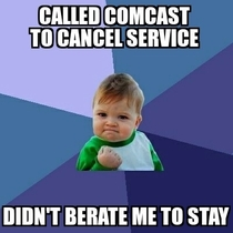 Called Comcast today