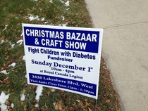 Canada has some weird Christmas fundraisers think of the children or fight them whatever