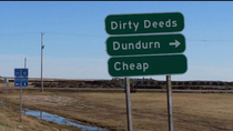Canada rocks Actual sign outside Dundurn Saskatchewan