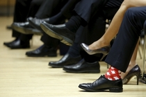 Canadas Prime Minister Justin Trudeau and his socks