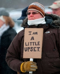 Canadian protester