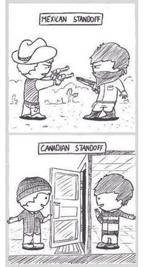 Canadian stand off