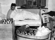 Capt Lewis Nixon of Easy Company the morning after V-E Day The booze comes from Hermann Grings house
