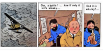 Captain Haddock knows how to enjoy a long flight