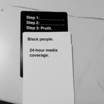 Cards Against Humanity got too real today