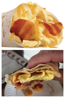Carls Jr Bacon egg and cheese burrito