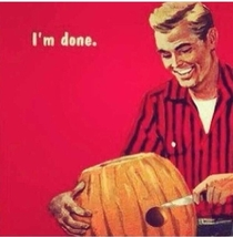 Carving pumpkins as a single male