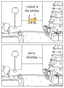 Cats are the best gift givers