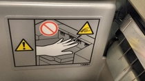 CAUTION Your hand will be touched by an even smaller hand