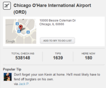 Chicago OHare Airport popular tip