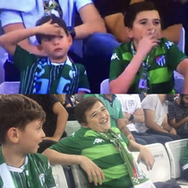 Child was all over the news after being spotted smoking at a football matchhes actually a yr old Turkish man