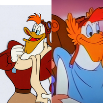 Childhood me thought that Launchpad was super-buff Just watching DuckTales on D and Launchpad was wearing a toga