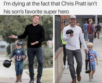 Chris Pratt isnt his sons favorite super hero