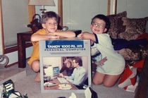 Christmas morning  my brother and I couldnt believe we actually got the Tandy