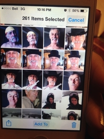 Cleaning out my fathers phone when I see a variety of selfies he took while shaving his beard off He showed these to no one and Im pretty sure Hitler is one of them