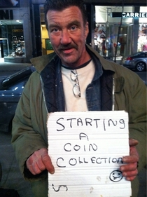 Clever homeless guy in Montreal