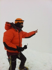 Climb to the top of Mount Rainier and get a great view they said
