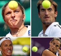 Close up pictures of tennis players just look like people trying really hard to control their telekinetic powers
