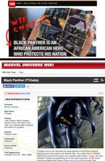 CNN calls Marvels Black Panther African American