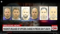 CNN really turned down the contrast in their freddie gray case mugshots