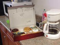 Co-worker slept in till noon this was his apology