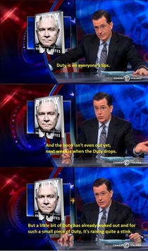 Colbert discusses Duty