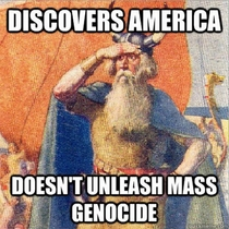 Columbus was  years late unleashed genocide and gets all the credit