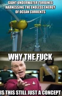 Come on I actually like wind turbines but this would get those it ruins the scenery people to quiet down