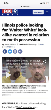Come on Walter dont get high on your own supply lol