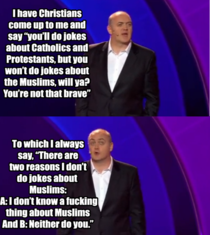 Comedian explains why he doesnt do jokes about Muslims