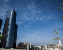 Comedian Kurt Braunohler hired a sky writer to do this over LA