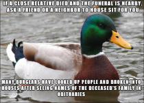 Coming from a family of funeral directors I hear about this way too often
