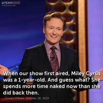 Conan on Miley Cyrus