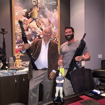 Congressman Rohrabacher amp Dan Bilzerian pose for a photo forgetting to crop out the cocaine in the background