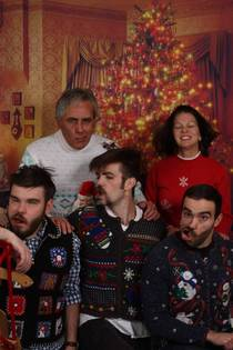 Convinced my family to go out and get family Christmas photos done This is the only family portrait that exists of my family